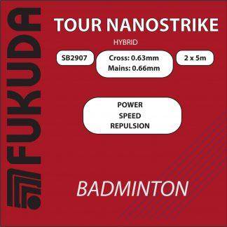 Tour NanoStrike hybrid string red white