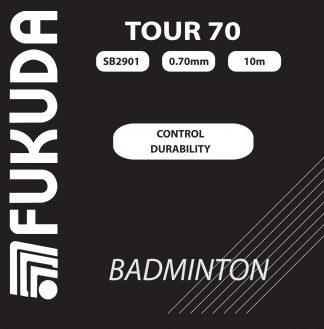 Tour 70 allround badmintonstring white