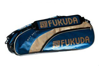 Pro Bag (blå) 3 compartment racketbag royal blue gold